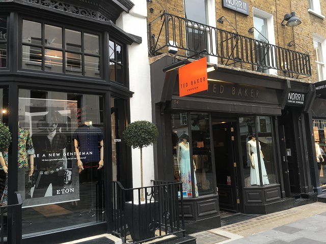 Ted Baker ロンドン 店舗