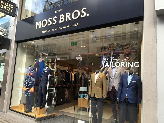 ロンドン MOSS BROS 店舗