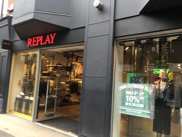 リプレイ REPLAYの個人輸入、海外通販、代行サービスをイギリスから EG代行