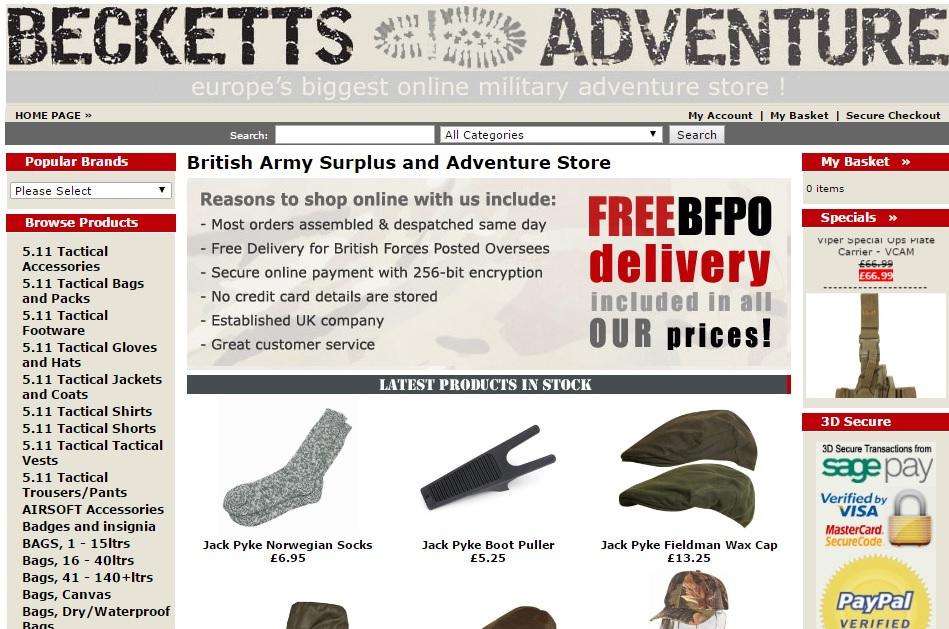 BECKETTS ADVENTURE ベケッツアドベンチャーの新作商品、入手困難なアイテム、日本未上陸品、激安品、限定品、お値打ち品、バーゲンセール品、個人輸入、海外通販、代行サービスをイギリスから EG代行
