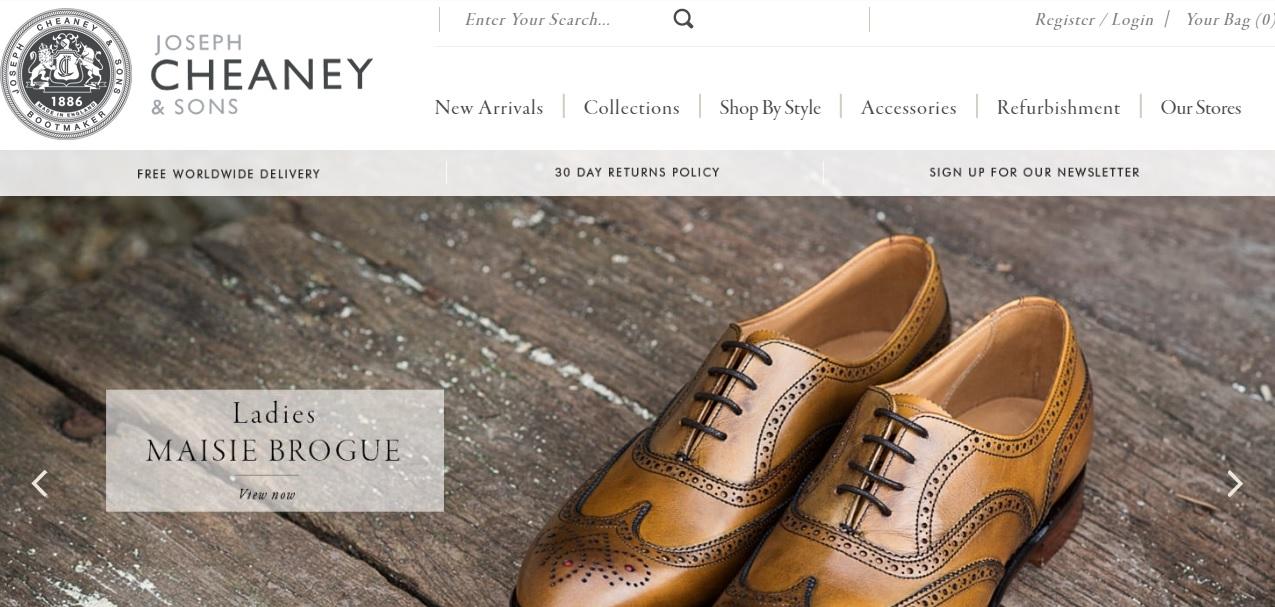 CHEANEY チーニーの新作商品、入手困難なアイテム、日本未上陸品、激安品、限定品、お値打ち品、バーゲンセール品、個人輸入、海外通販、代行サービスをイギリスから EG代行