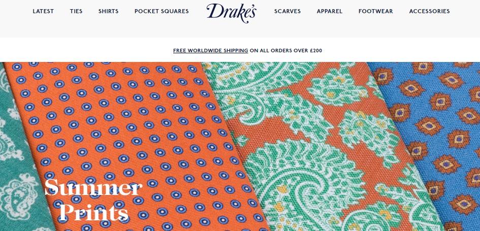 Drake's ドレイクスの新作商品、入手困難なアイテム、日本未上陸品、激安品、限定品、お値打ち品、バーゲンセール品、個人輸入、海外通販、代行サービスをイギリスから EG代行