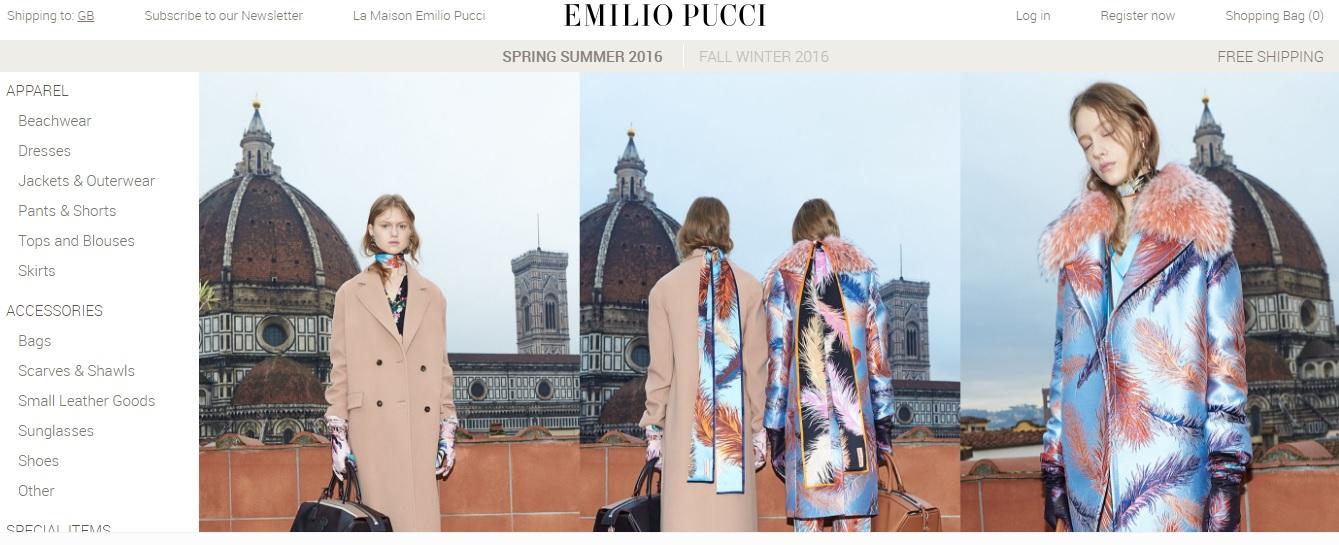 EMILIO PUCCI エミリオプッチの新作商品、入手困難なアイテム、日本未上陸品、激安品、限定品、お値打ち品、バーゲンセール品、個人輸入、海外通販、代行サービスをイギリスから EG代行