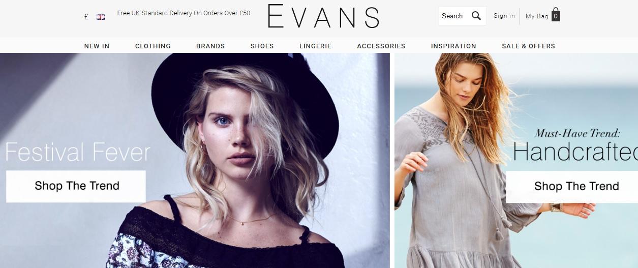EVANS エヴァンスの新作商品、入手困難なアイテム、日本未上陸品、激安品、限定品、お値打ち品、バーゲンセール品、個人輸入、海外通販、代行サービスをイギリスから EG代行
