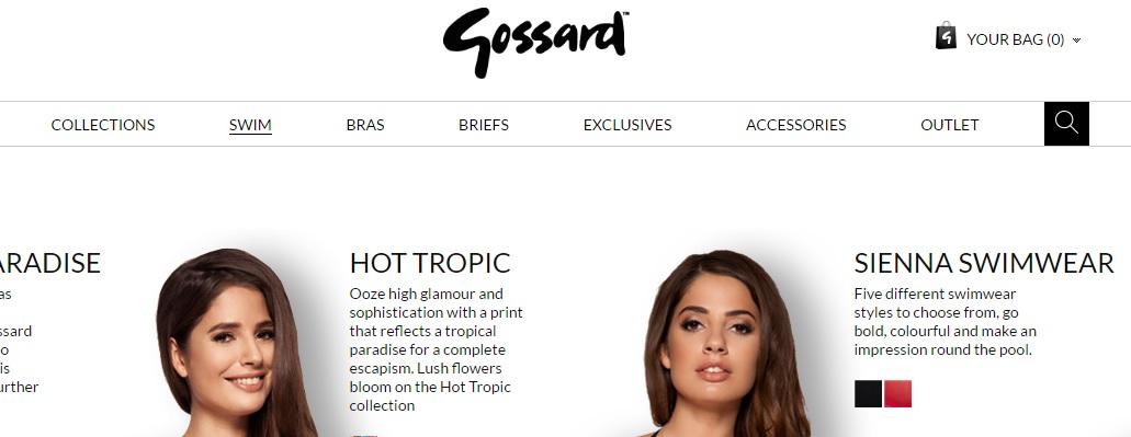 gossard ゴサードの新作商品、入手困難なアイテム、日本未上陸品、激安品、限定品、お値打ち品、バーゲンセール品、個人輸入、海外通販、代行サービスをイギリスから EG代行