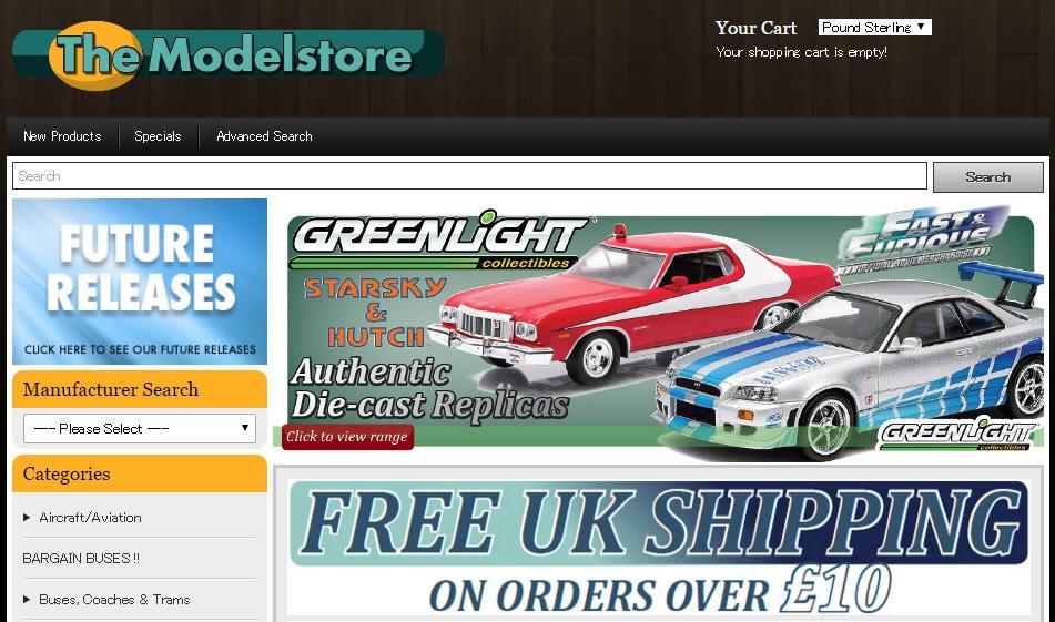 モデルストア The Modelstoreの新作商品、入手困難なアイテム、日本未上陸品、激安品、限定品、お値打ち品、バーゲンセール品、個人輸入、海外通販、代行サービスをイギリスから EG代行