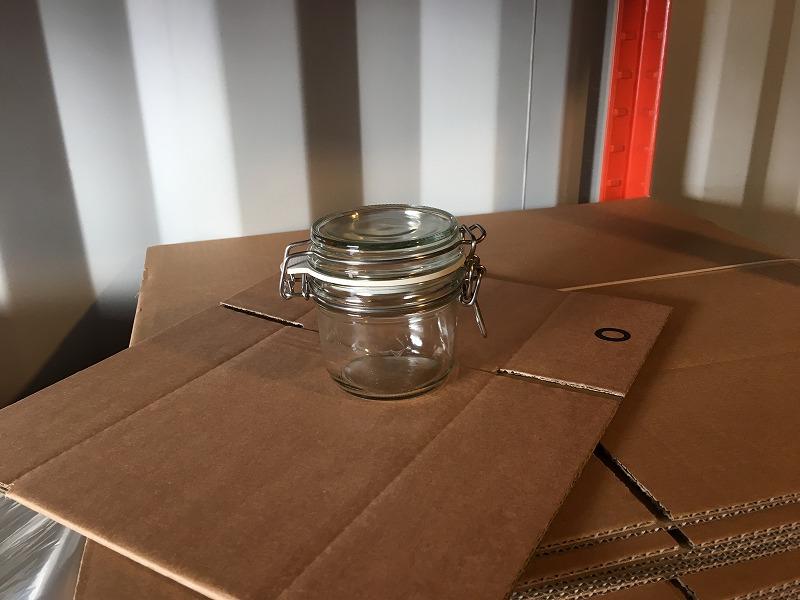 こだわりの梱包 ガラスのジャーをInstapak インスタパックで梱包 1