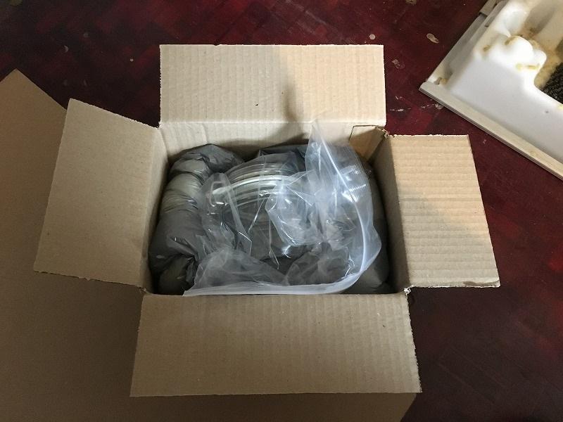 こだわりの梱包 ガラスのジャーをInstapak インスタパックで梱包 7