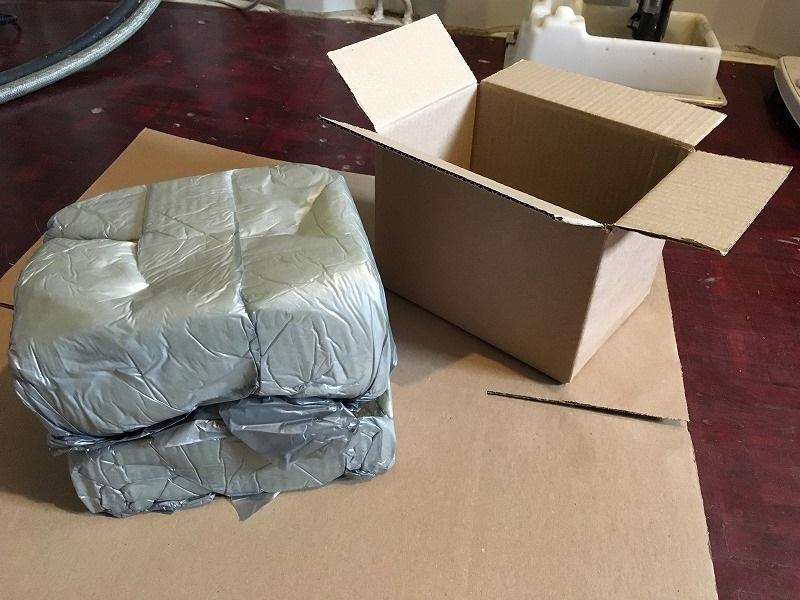 こだわりの梱包 ガラスのジャーをInstapak インスタパックで梱包 14